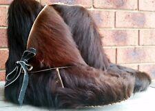 RETRO FUNKY HANDMADE LADIES MENS BOOTS ANIMAL HYDE HAIR FUR SHEEPSKIN LINED