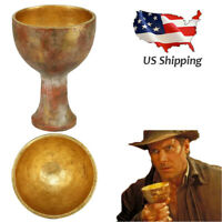 Raiders of the Lost Ark Indiana Jones Holy Grail Cosplay Costume Props US Ship