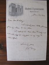 1930 Letterhead Hotel Syracuse, Syracuse, New York