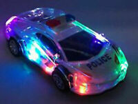 Kids Bump & Go Police Motor Car With Flashing Light & Sound battery operated toy