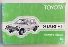 Original Genuine Toyota Starlet KP60 RWD Bugeye, Factory UK Owners Manual. RARE!