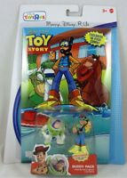 New Toy Story Buddy Pack Scuba Woody Action Hero Buzz Lightyear Figures + Comic