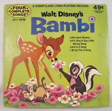 Walt Disneys Bambi 45 RPM Vintage Vinyl Childrens Record 1972 4 Songs (O) AS IS