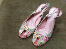 MNG (Mango) High heel Pink Peep Toe sandals size UK 8 (41)-VGC