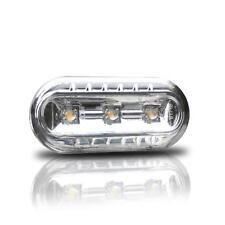 2x Led Clara Luz Intermitente Lateral de Vidrio Cromo #2 para VW Seat Skoda Ford