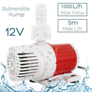 12V DC Water Pump Fountain Garden Fish Pond Aquarium 1000L/H Submersible Feature