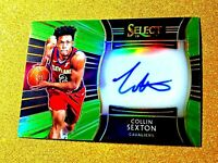 2018-19 Panini Select COLLIN SEXTON Rookie Signatures Neon Green /99 Prizm RSCSX