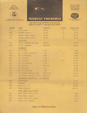 Vintage Midwest Fireworks Company Price List