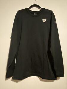 Nike Golf Dri Fit Equipment Men's Pullover Sweatshirt Long Sleeves NFL Black  XL