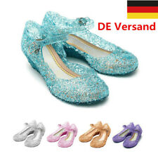 DE Mädchen Prinzessin Kristall Schuhe Sohle Pantoletten Badesandalen Sandalen