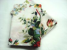 2 Standard Pillowcases Set two new Ralph Lauren BELLE HARBOR WHITE FLORAL Fabric