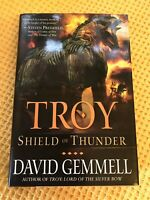 Troy: Shield of Thunder by David Gemmell , Scarce Deckled USA First Edition