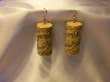 Wine Cork Earrings- Chateau Ste Michelle