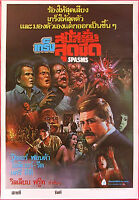 Spasms (1983) HORROR Thai Movie Poster Original