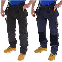 Click Shawbury Tradesman Cargo Mens Work Trousers Pants Tool Knee Pad Pockets