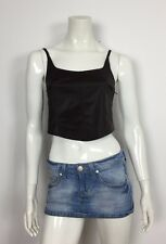 Artis top crop S 42 brown marrone corpetto sexy maglia donna usato hot T2230