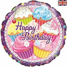 Cupcake Birthday 18 Inch Foil Balloon