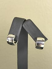 Silpada Sterling Silver Huggie Earrings P0674 Rare!  HTF!