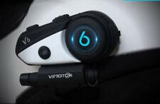VIMOTO V6 Bluetooth Motorrad Gegensprechanlage Headset Interfone Intercom Blinc