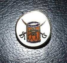 CPE Brass Drum & Swords Button #4804