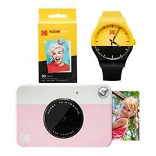 Kodak PRINTOMATIC Instant Print Camera (Pink) Watch Bundle