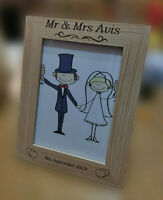 Personalised Wedding Day Photo Frame Gift Idea Anniversary Engagement Keepsake