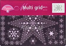 Multi grid Pergamano a stelle n 21 BORDI SCRAPBOOKING per pizzi in carta angoli