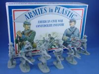 ARMIES IN PLASTIC 5411 Civil War Confederate Infantry 20 Figures FREE SHIP