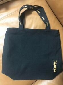 YSL Yves Saint Laurent Black Canvas Vip Gift Parfums Tote Shopping Bag