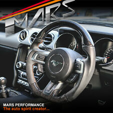 MARS Carbon Fibre + Leather Steering Wheel for Ford Mustang 15-17 GT Shelby 2.3T
