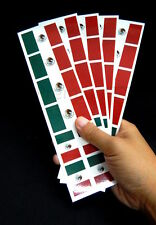 40 Removable Stickers: Mexico Flag: Mexican Party Favors, Decals