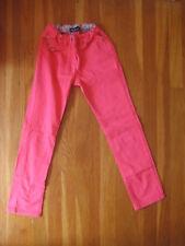 Mini Boden girls PINK JEANS pants straight leg skinny green blue flower sz 10