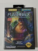 Sega Genesis (CIB) - Flashback: Quest for Identity - Game Box & Manual Complete