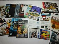 Huge Lot of Various Video Game Inserts Manuals Booklets N64 Gameboy PS1 2 3 Xbox