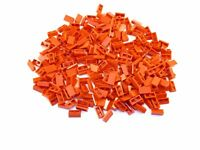 LEGO Red Slope 30 1x2x2/3 Lot of 100 Parts Pieces 85984