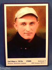 Carl Mays, Boston, ArtCard #7 - Baseball card  of Star player c.1910s