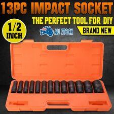 "13Pcs 1/2"" Drive Deep Impact Socket Set Metric Garage Workshop Air Tools 10~32mm"