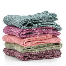 5 Pairs/1 Pair Women Wool Cashmere Thick Winter Warm Soft Solid Casual Socks