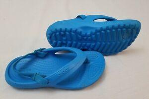 Crocs Unisex Kids Toddlers Size 8c Flip Flop Sandals Blue
