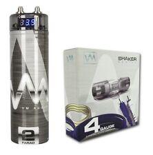 VM Audio SRSK4B 4 Gauge Ga Car Amplifier Amp Wiring Kit+ 2 Farad Power Capacitor