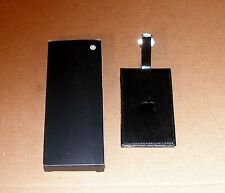 Apple Logo Black Leather Luggage Tag by Apple Computer  - NEW in Box