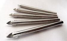 X5 NUOVA 6mm Tungsteno Testa Punte per piastrelle, Cina, vetro, ceramica NUOVO