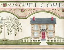 Folk Art Wallpaper Border Traditional Country 41676910