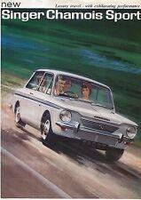 Singer Chamois Sport (Imp) Original UK Sales Brochure Pub. 6901/H circa 1966