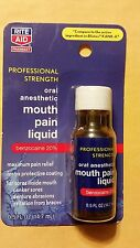 RITE AID MOUTH PAIN LIQUID PROFESSIONAL STRENGTH  .5 FL OZ - COMPARE TO KANK-A