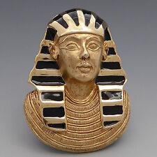 VTG ERWIN PEARL ENAMEL GOLD PLATE FIGURAL PHARAOH KING TUT EGYPTIAN PIN BROOCH