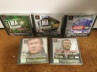 Premier Manager 2000 LMA Manager 2001 - PS1 Playstation 1 Bundle Alex Fergusons