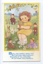 ch0059 - Children - Birds Bunnies Pixies - artist Phyllis Purser - postcard