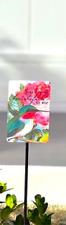 "Home Pool Flower Pot Nature Garden Stake - Hummingbird Beautiful To Me 23"" New"