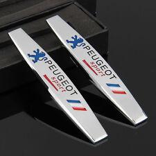 2pcs 3D Metall Auto Schriftzug Aufkleber Emblem für Schutzblech Racing sports